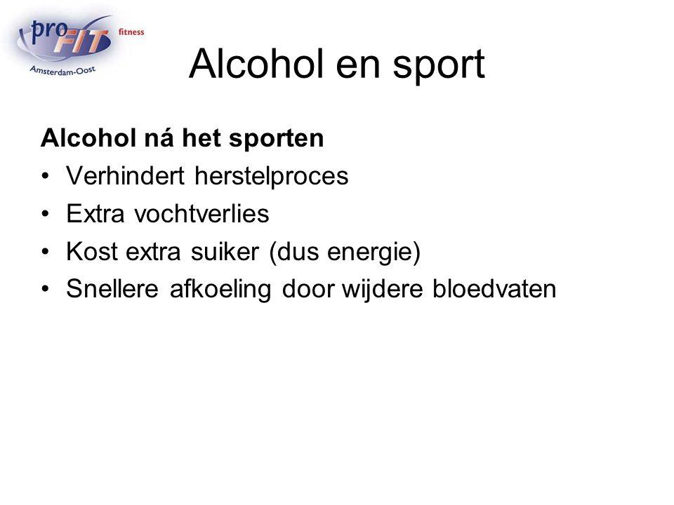 Alcohol en sport Alcohol ná het sporten Verhindert herstelproces