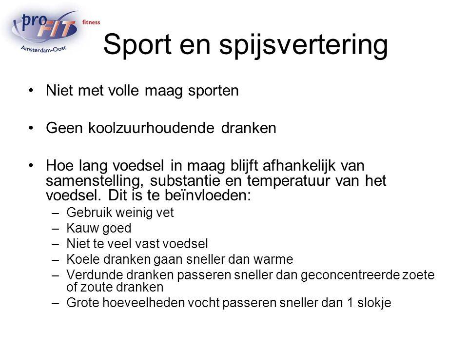 Sport en spijsvertering