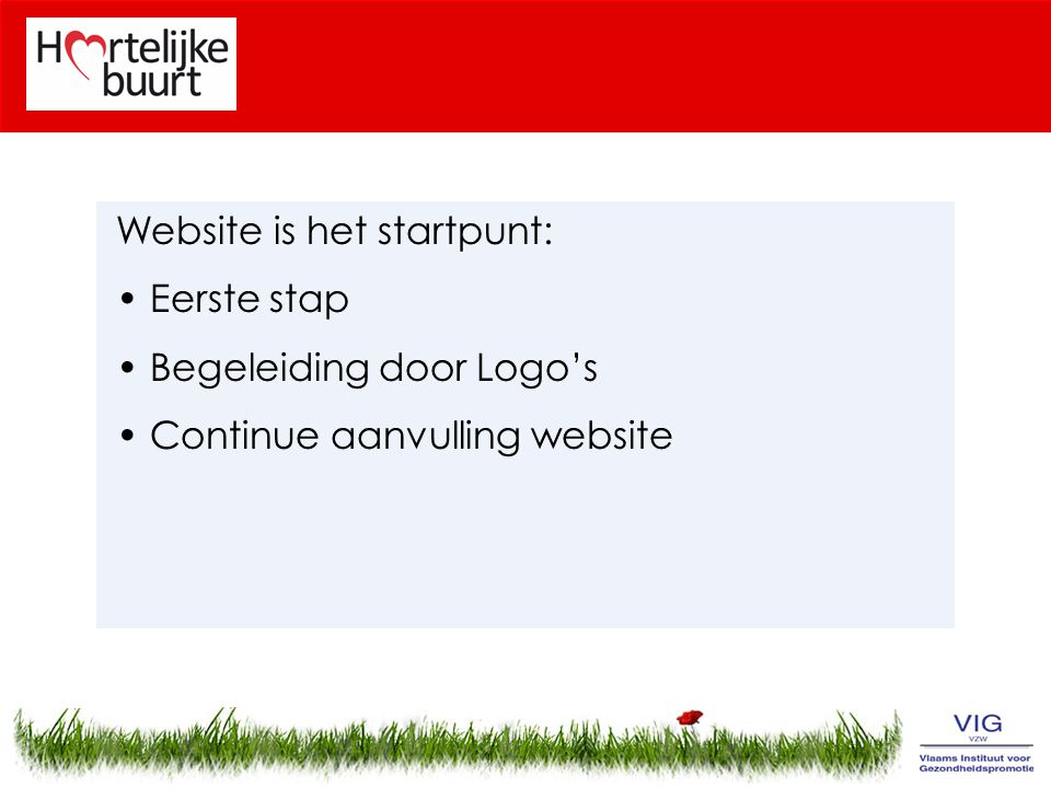 Website is het startpunt: