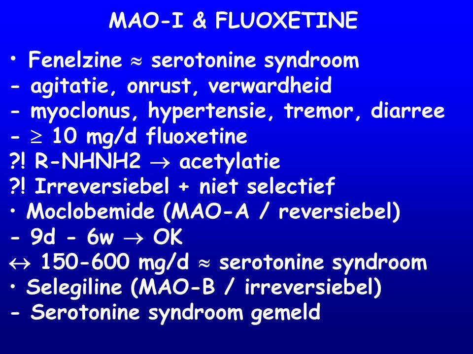 Fenelzine  serotonine syndroom
