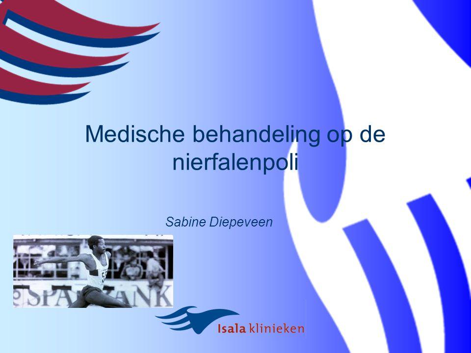 Medische behandeling op de nierfalenpoli