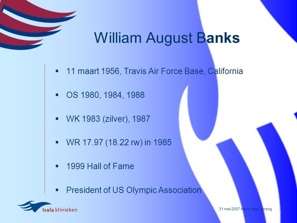 William August Banks 11 maart 1956, Travis Air Force Base, California