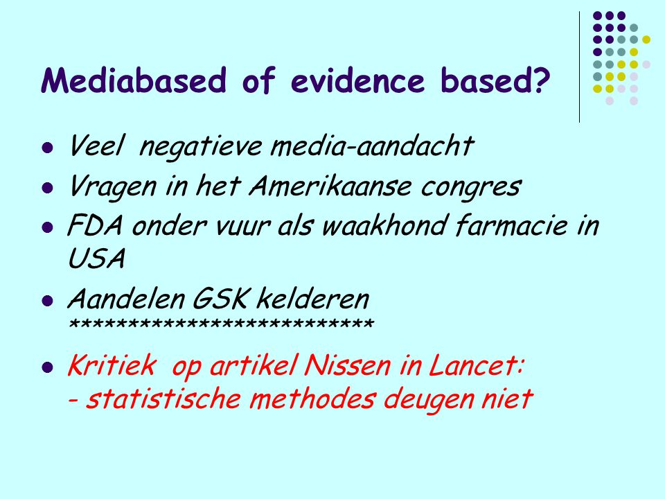 Mediabased of evidence based