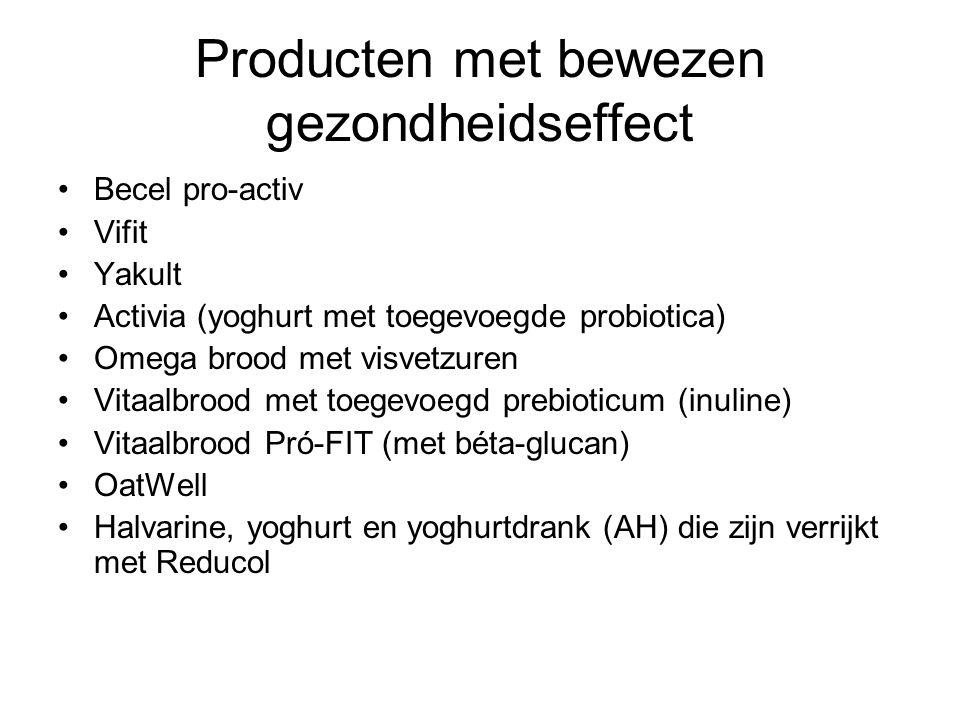 Producten met bewezen gezondheidseffect
