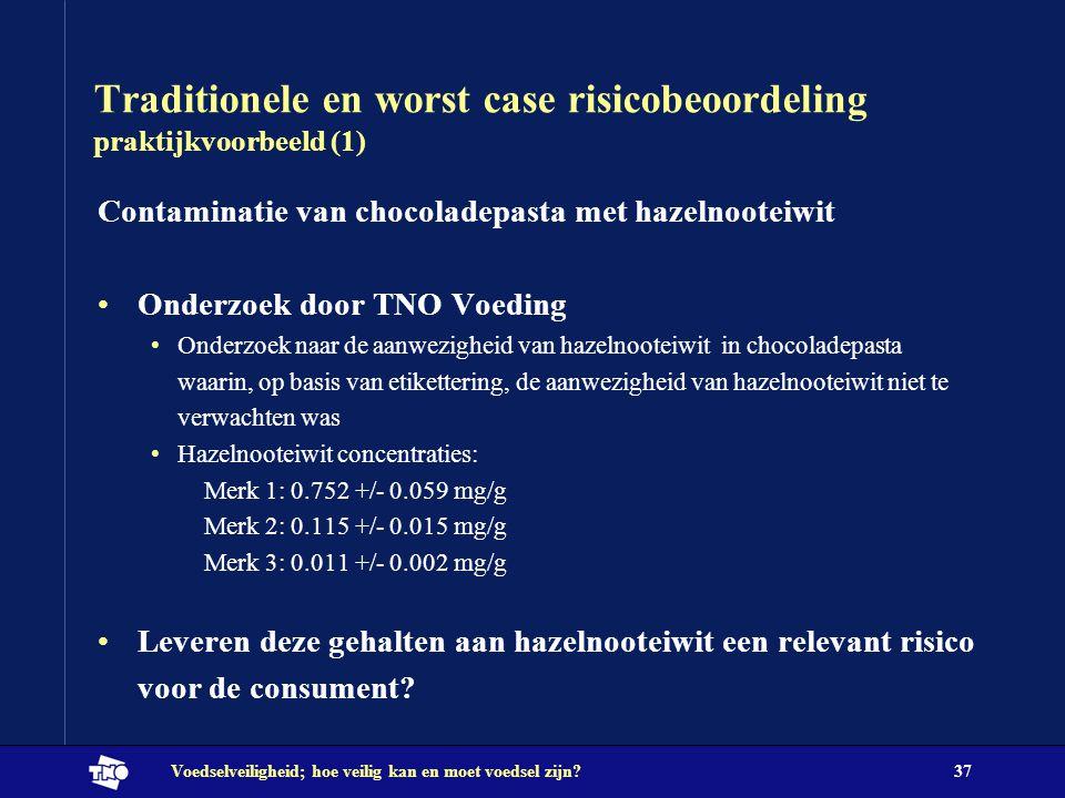 Traditionele en worst case risicobeoordeling praktijkvoorbeeld (1)
