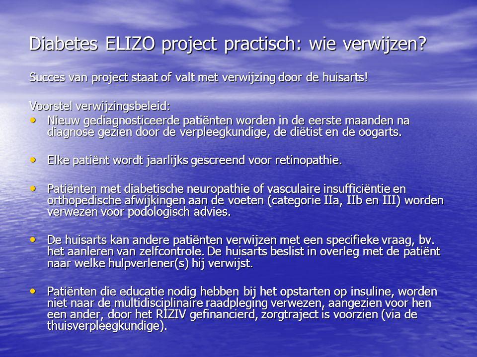 Diabetes ELIZO project practisch: wie verwijzen