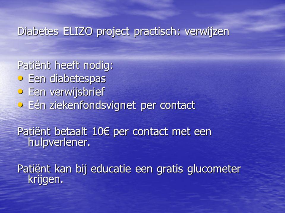 Diabetes ELIZO project practisch: verwijzen