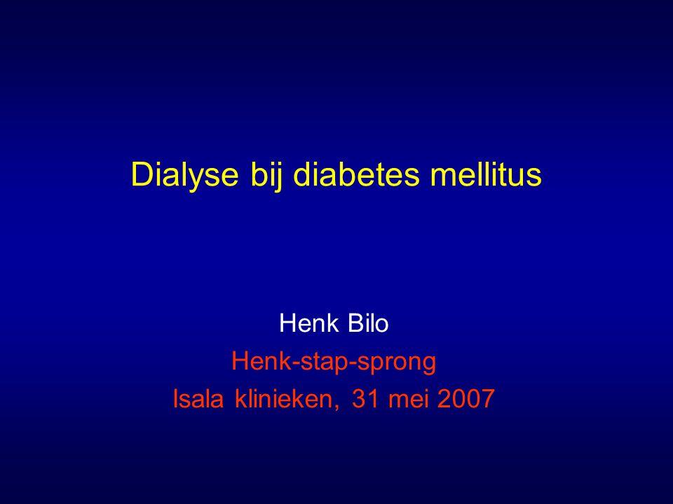 Dialyse bij diabetes mellitus