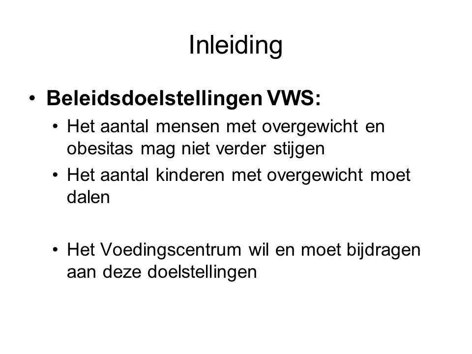 Inleiding Beleidsdoelstellingen VWS: