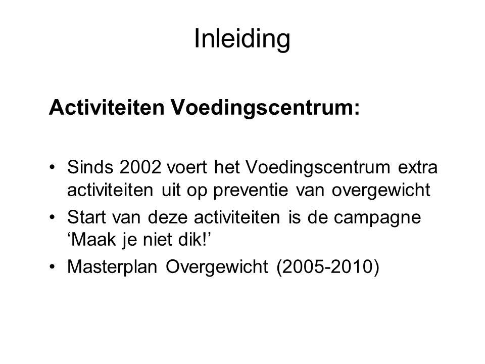 Inleiding Activiteiten Voedingscentrum: