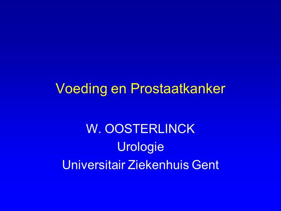 Voeding en Prostaatkanker
