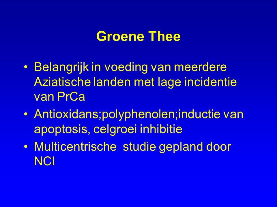 Groene Thee Belangrijk in voeding van meerdere Aziatische landen met lage incidentie van PrCa.