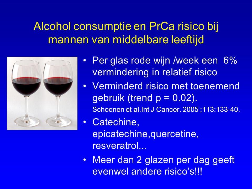 Alcohol consumptie en PrCa risico bij mannen van middelbare leeftijd