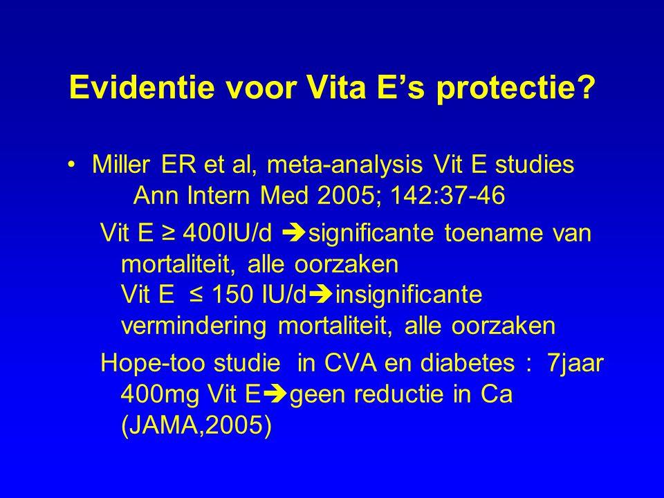 Evidentie voor Vita E's protectie