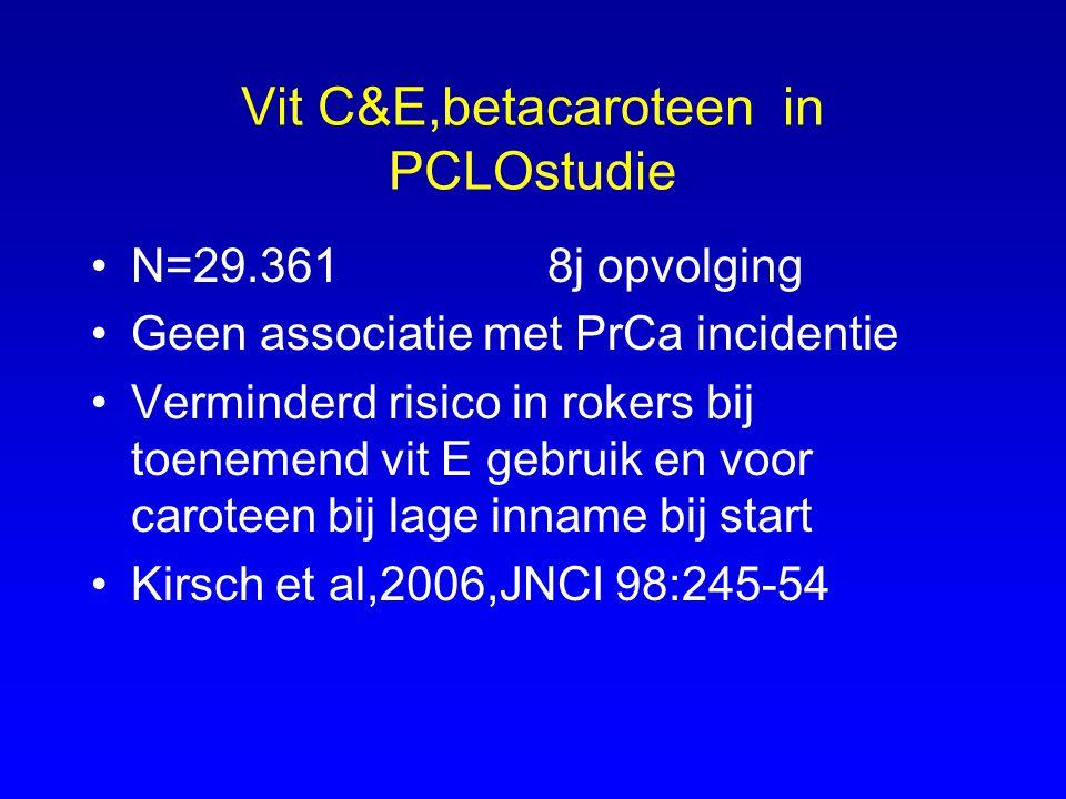 Vit C&E,betacaroteen in PCLOstudie