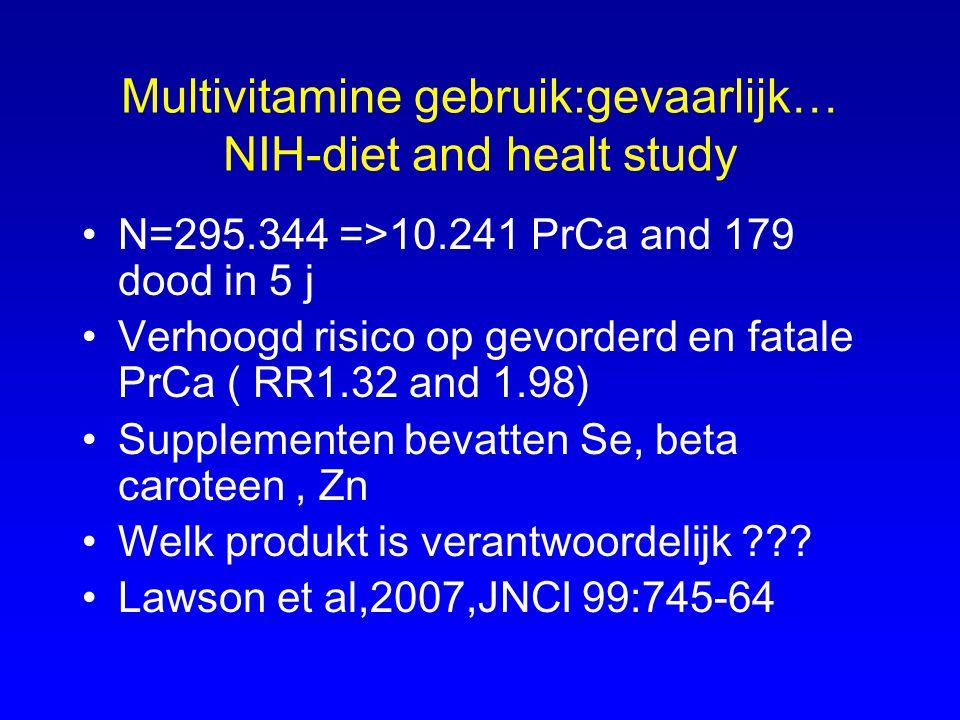 Multivitamine gebruik:gevaarlijk… NIH-diet and healt study