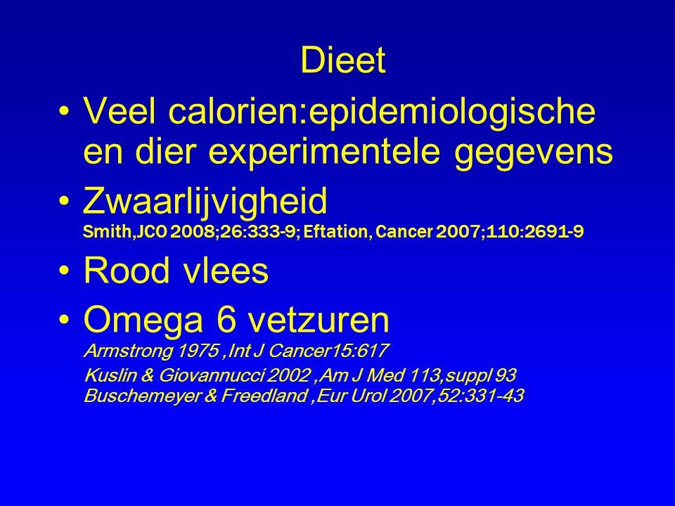 Veel calorien:epidemiologische en dier experimentele gegevens