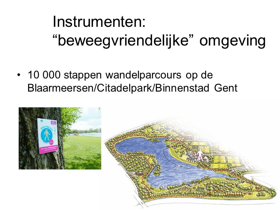 Instrumenten: beweegvriendelijke omgeving