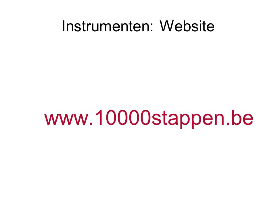 Instrumenten: Website