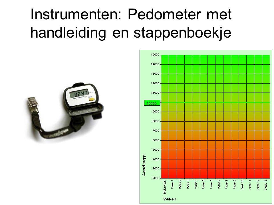 Instrumenten: Pedometer met handleiding en stappenboekje