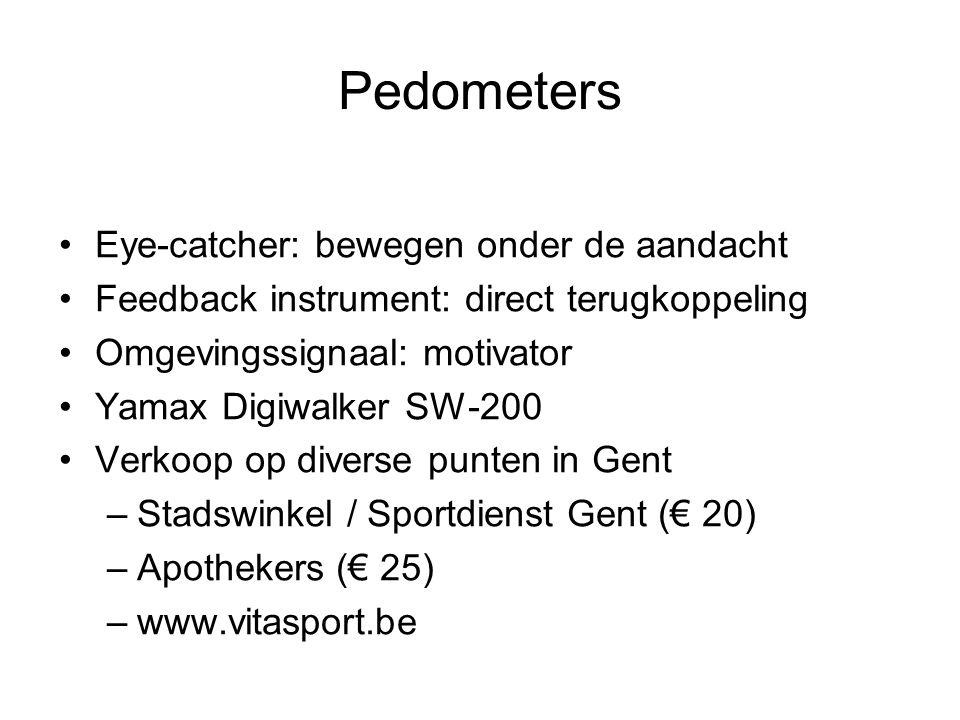 Pedometers Eye-catcher: bewegen onder de aandacht