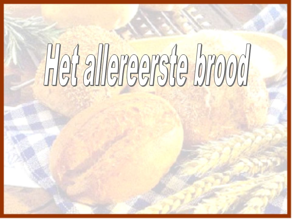 Het allereerste brood