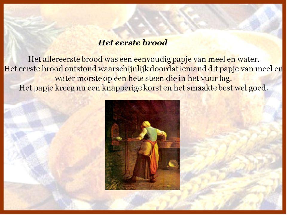 Het allereerste brood was een eenvoudig papje van meel en water.