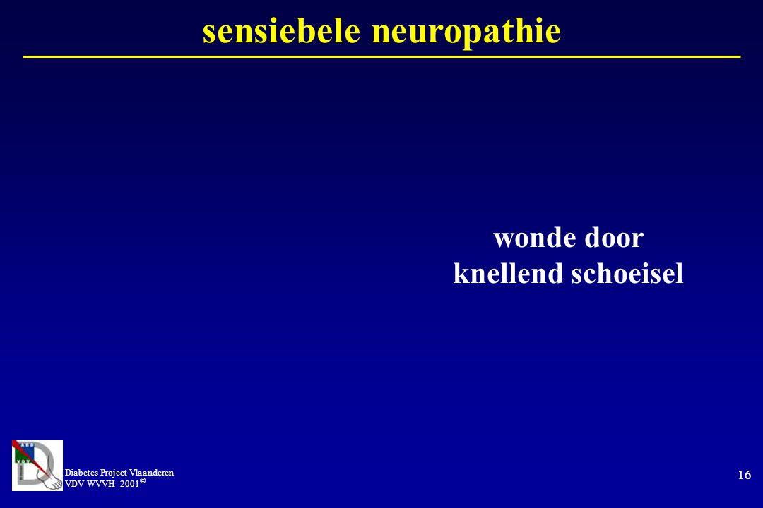sensiebele neuropathie wonde door knellend schoeisel