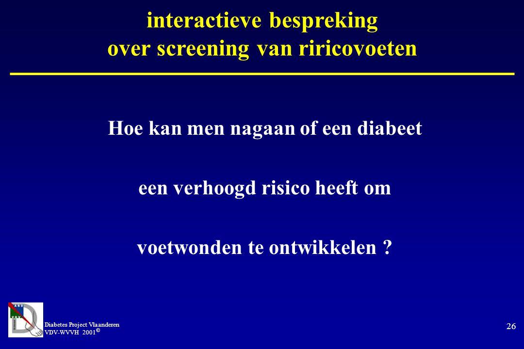 interactieve bespreking over screening van riricovoeten