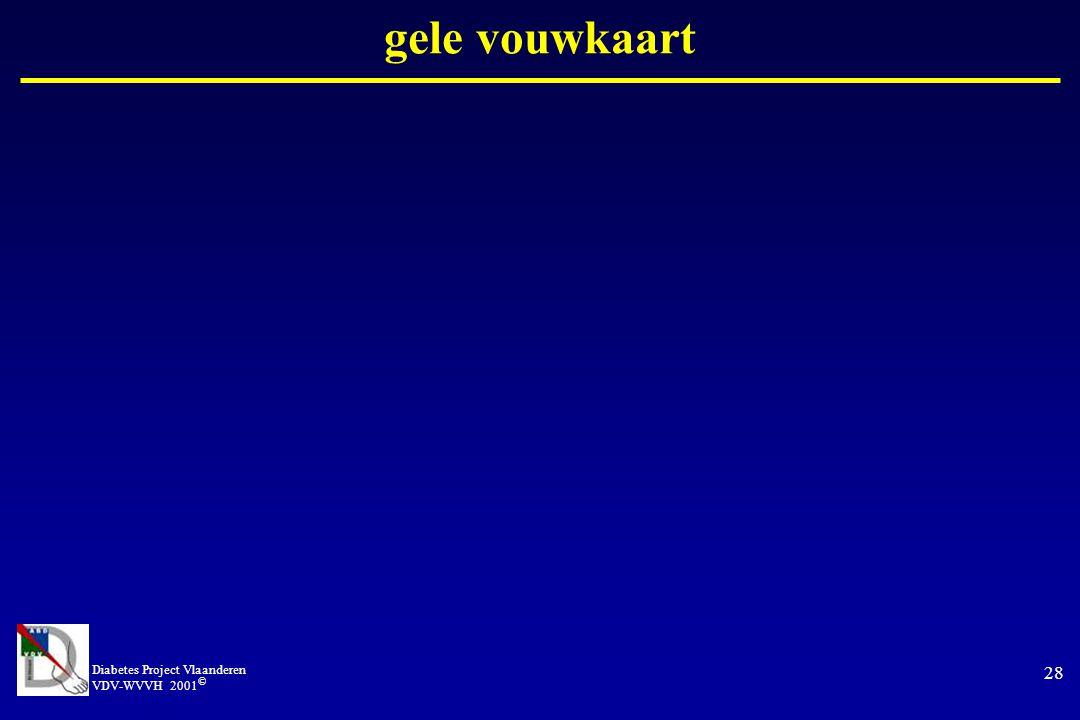 gele vouwkaart Diabetes Project Vlaanderen VDV-WVVH 2001©