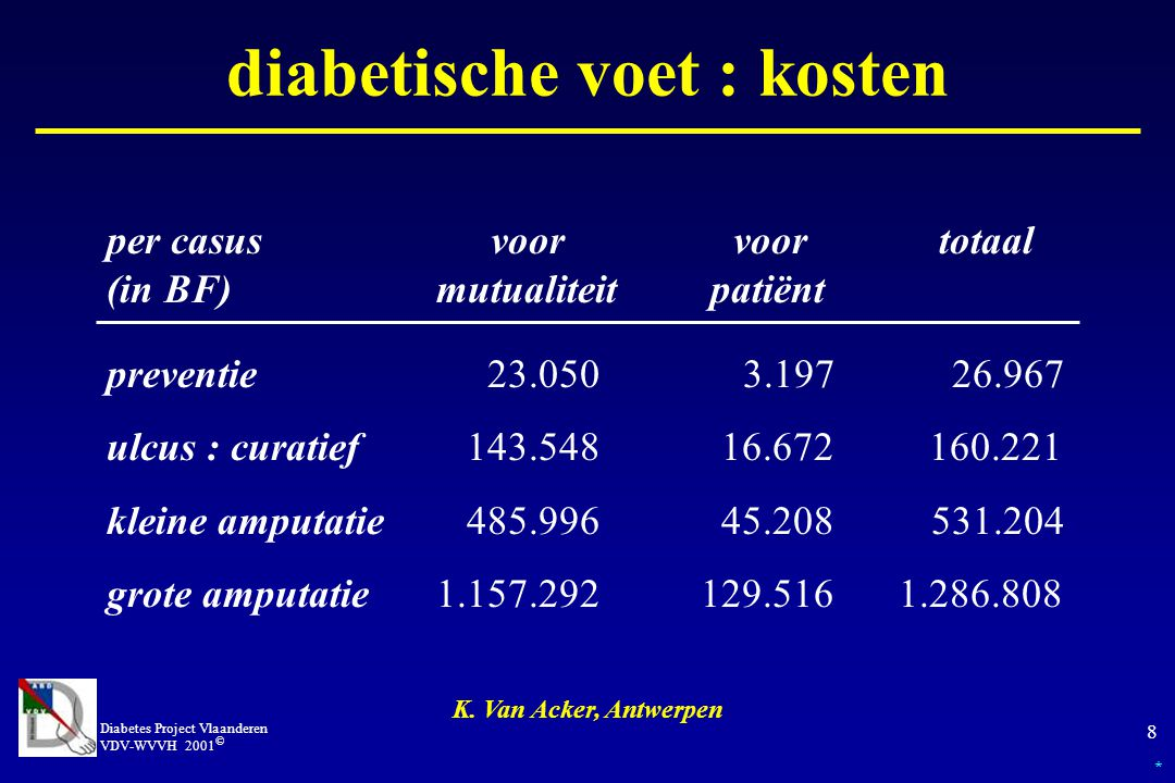 diabetische voet : kosten