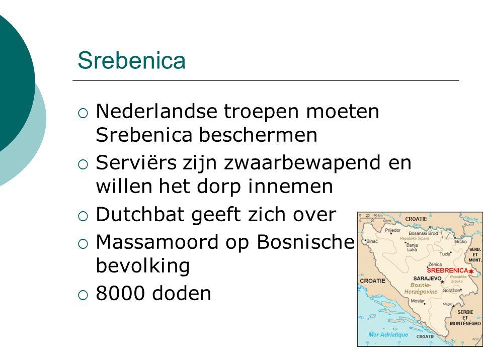 Srebenica Nederlandse troepen moeten Srebenica beschermen