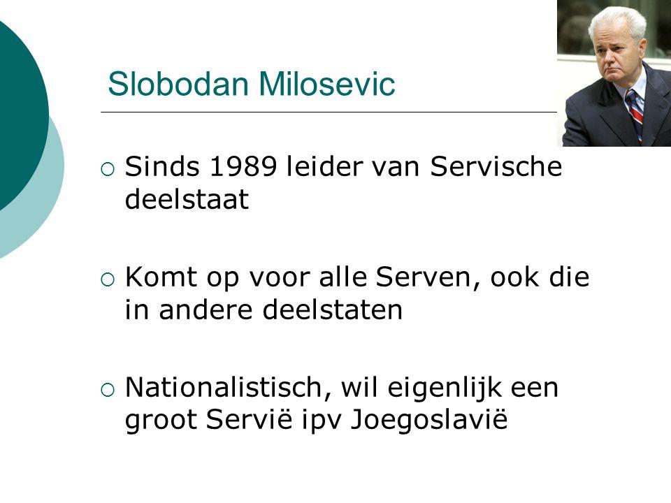 Slobodan Milosevic Sinds 1989 leider van Servische deelstaat