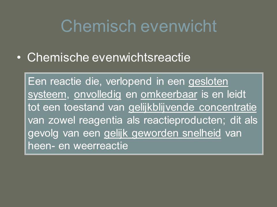 Chemisch evenwicht Chemische evenwichtsreactie