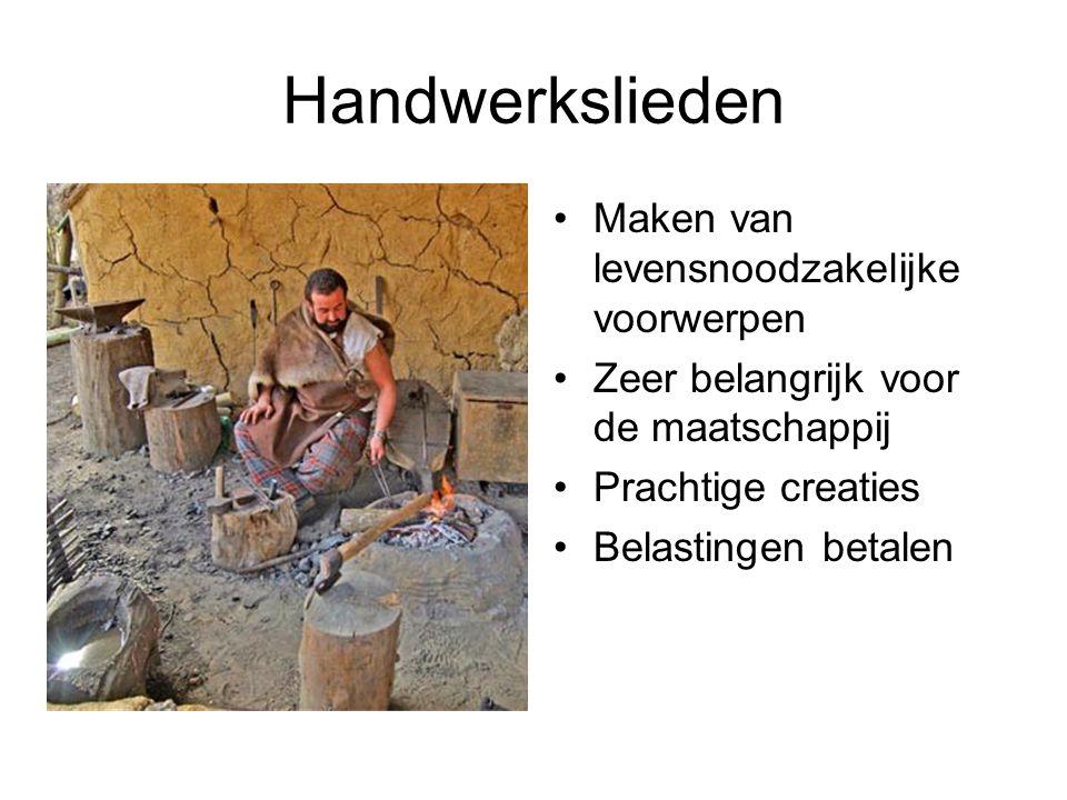 Handwerkslieden Maken van levensnoodzakelijke voorwerpen