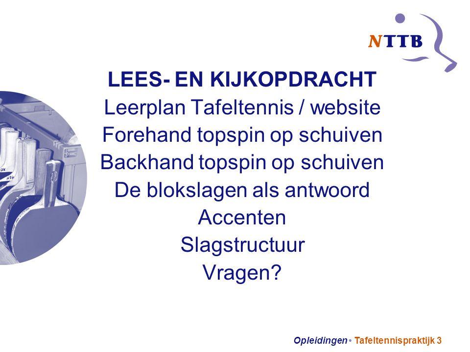Leerplan Tafeltennis / website Forehand topspin op schuiven