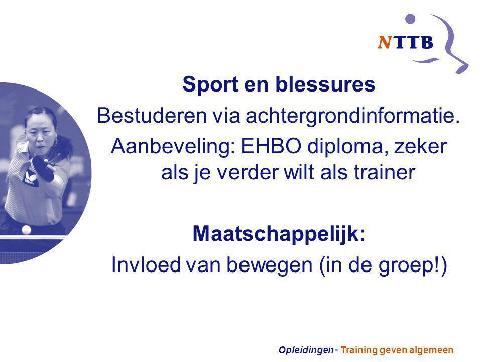 Sport en blessures Maatschappelijk:
