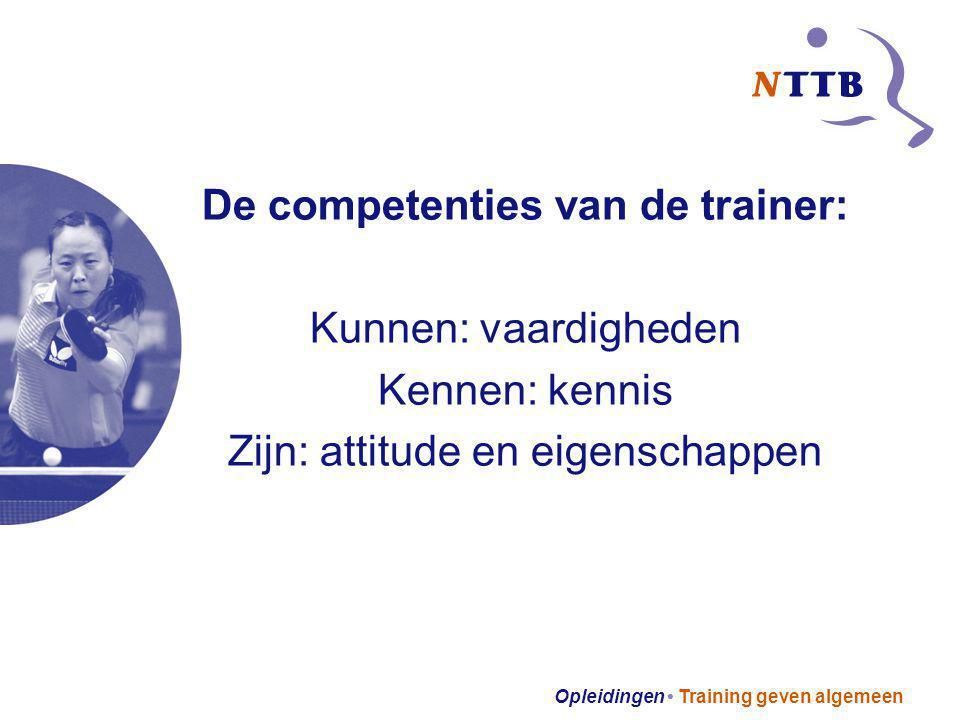 De competenties van de trainer: