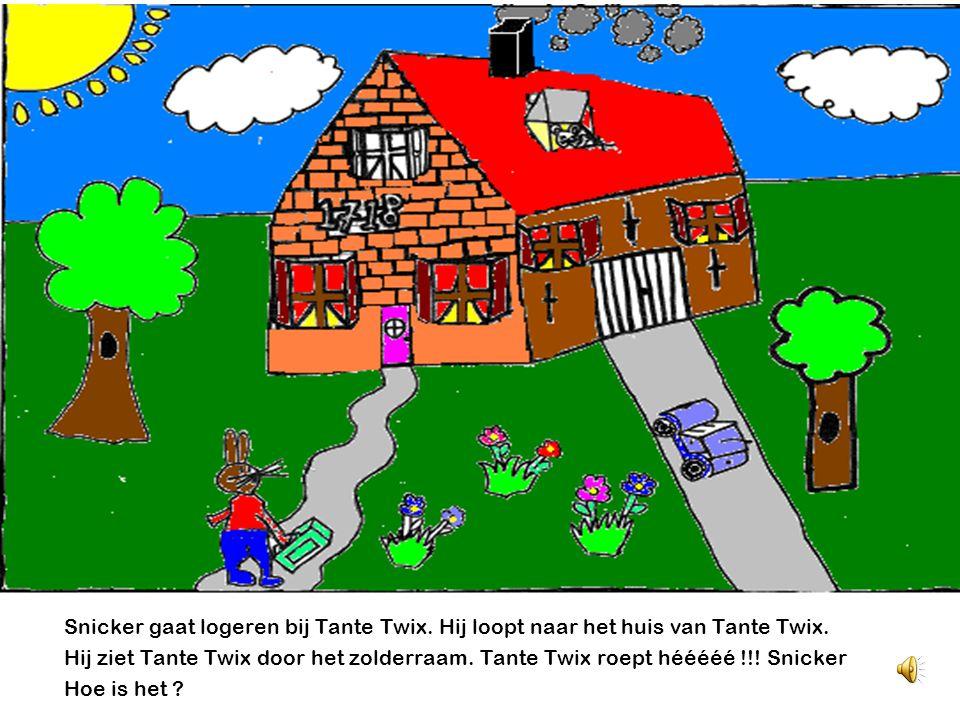 Snicker gaat logeren bij Tante Twix