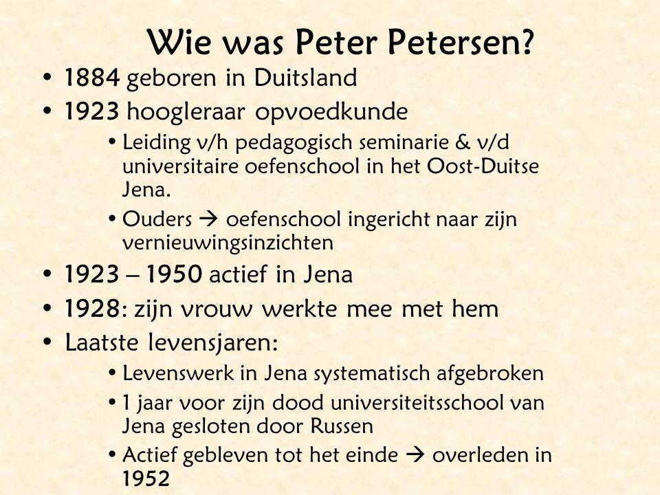 Wie was Peter Petersen 1884 geboren in Duitsland