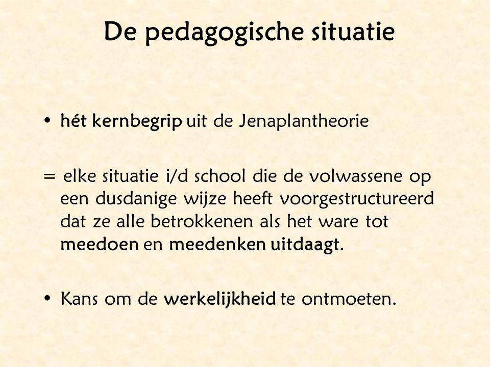 De pedagogische situatie