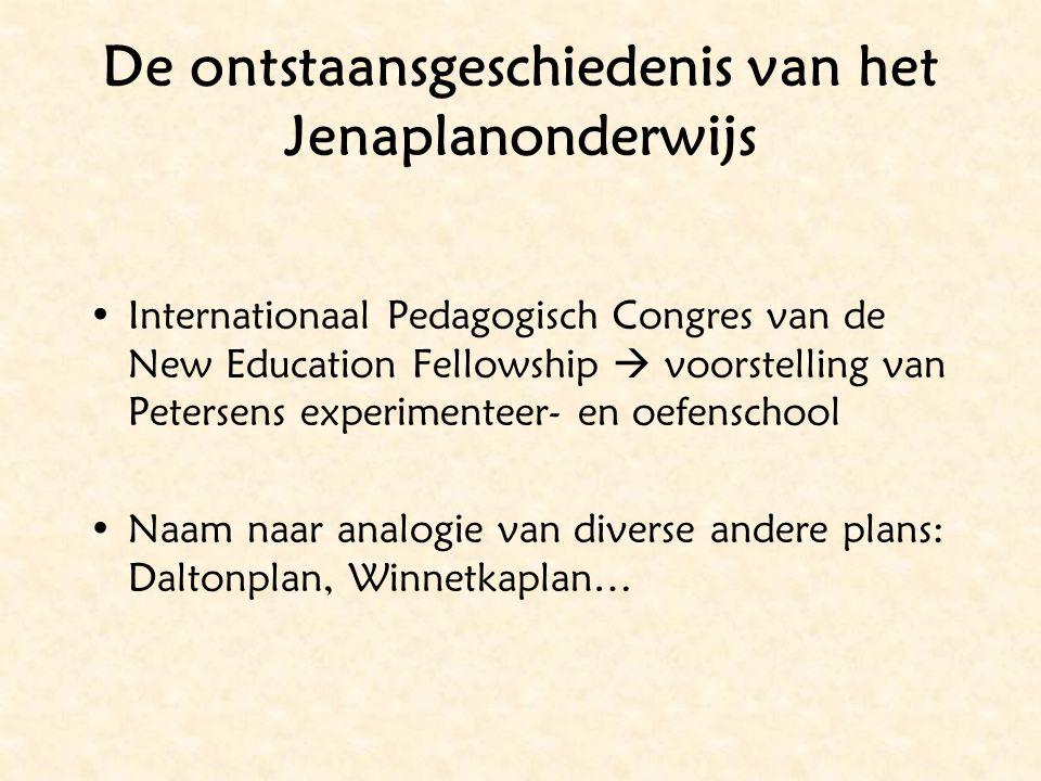 De ontstaansgeschiedenis van het Jenaplanonderwijs