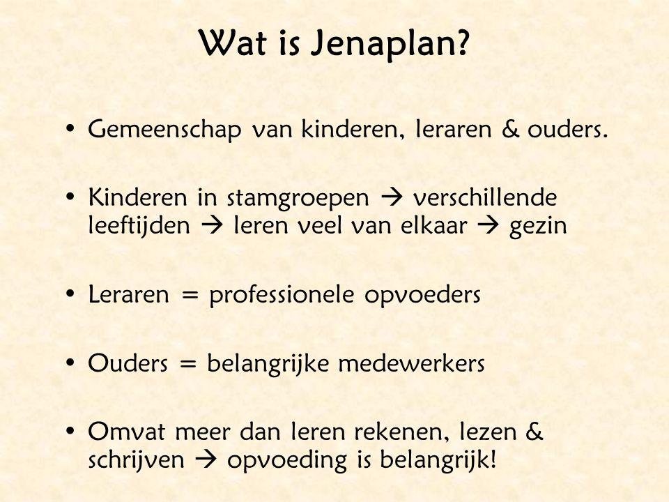 Wat is Jenaplan Gemeenschap van kinderen, leraren & ouders.