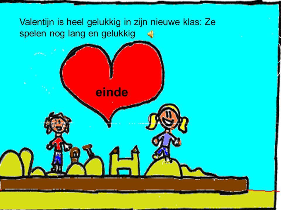 Valentijn is heel gelukkig in zijn nieuwe klas: Ze spelen nog lang en gelukkig