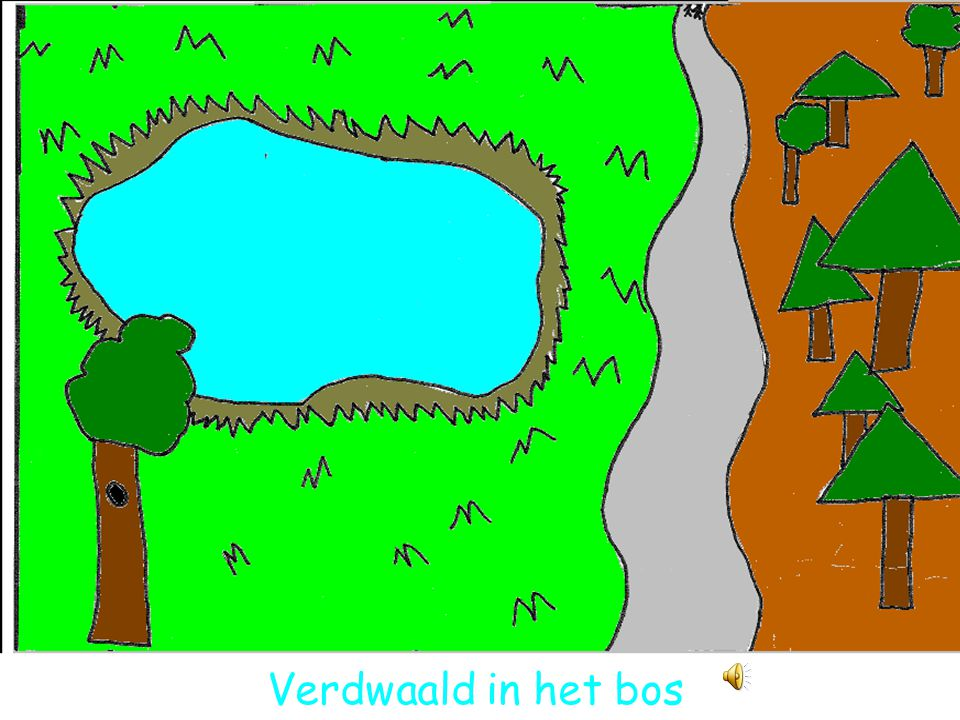 Verdwaald in het bos