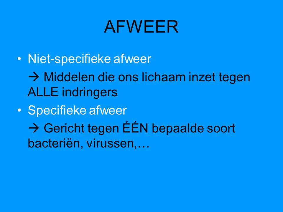 AFWEER Niet-specifieke afweer