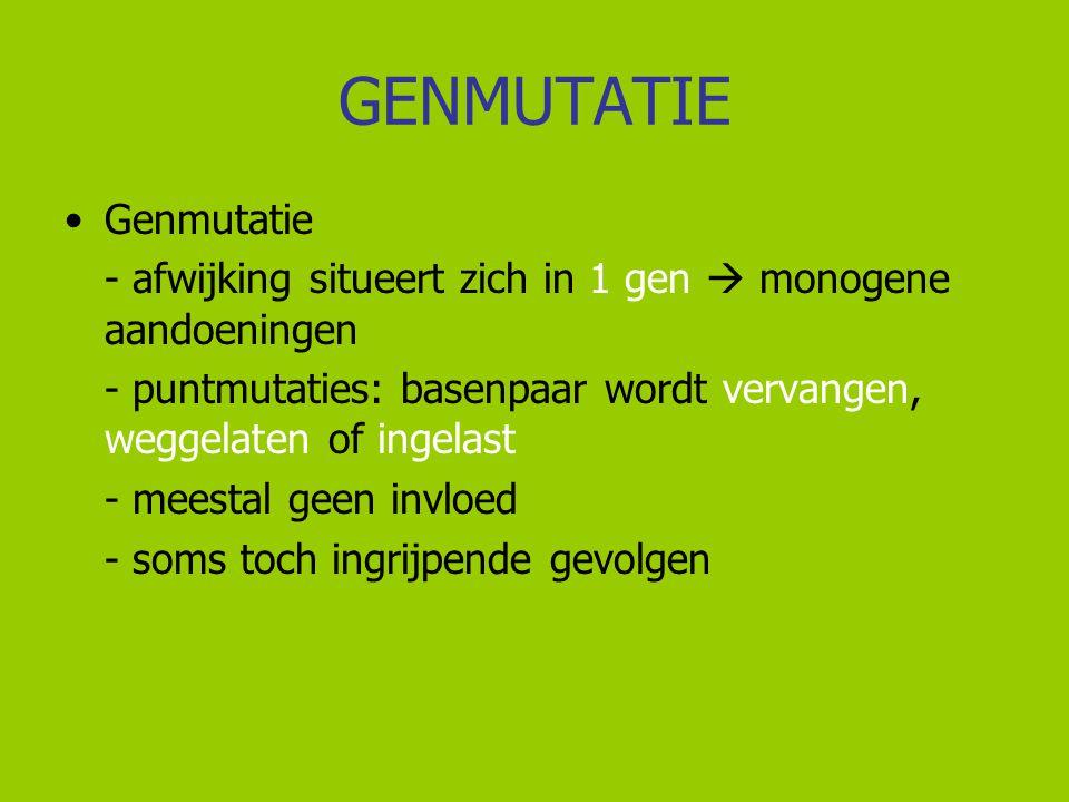GENMUTATIE Genmutatie