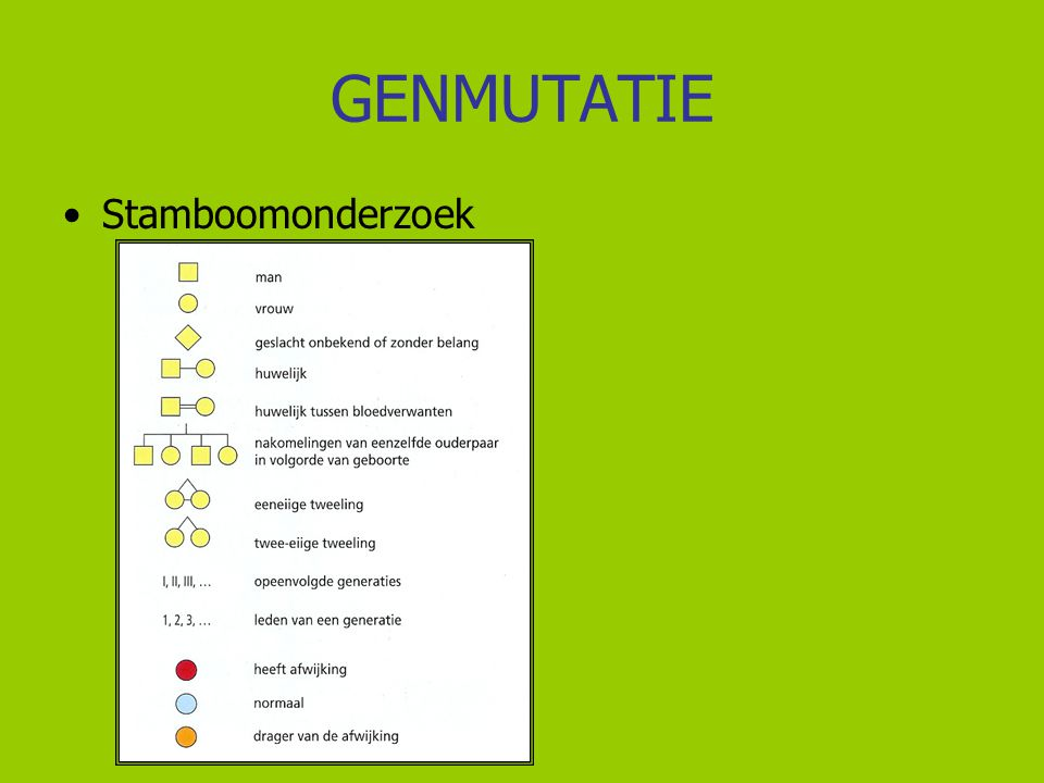 GENMUTATIE Stamboomonderzoek