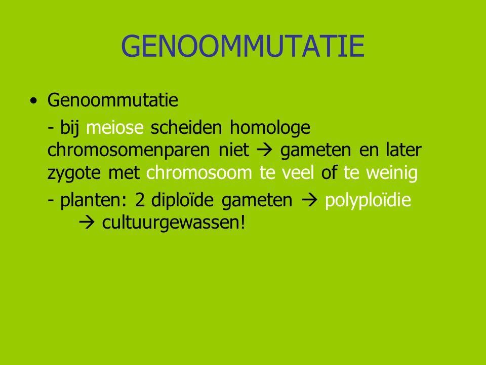 GENOOMMUTATIE Genoommutatie