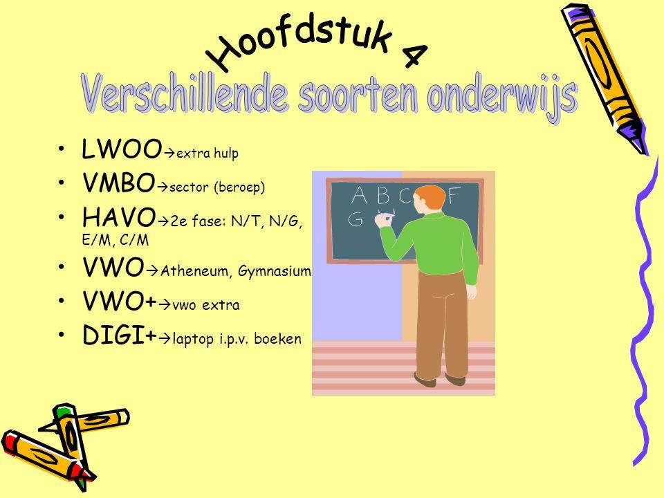 Verschillende soorten onderwijs